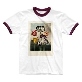 フローラの神殿 - チューリップ Ringer T-shirts
