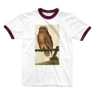 フクロウ Ringer T-shirts