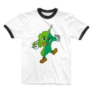 ふくおっかー Ringer T-shirts