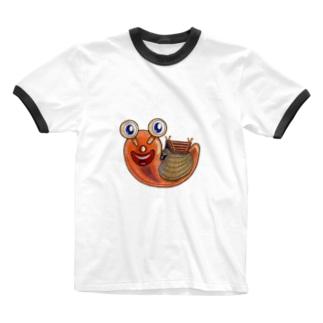 弥生式かたつむり・ゆやゆよん Ringer T-shirts