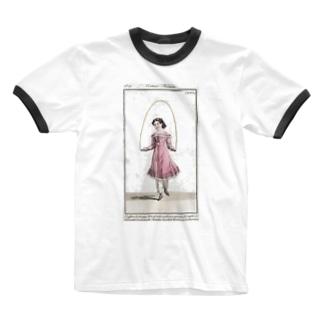 縄跳びガール Ringer T-shirts
