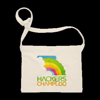 ハッカーズチャンプルーのハッカーズチャンプルーロゴ(正方形) サコッシュ