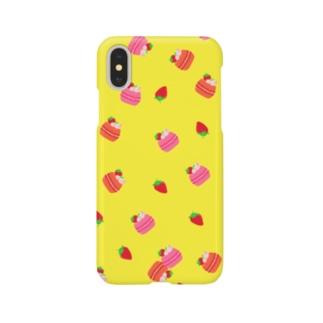 マカロン柄 Smartphone cases