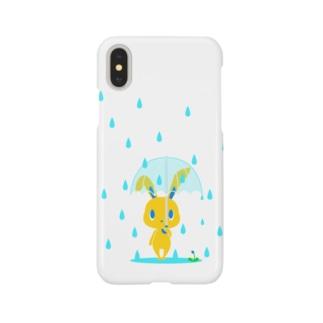 雨の日うさぎ スマートフォンケース