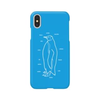 burnworks designのペンギン(青) Smartphone cases
