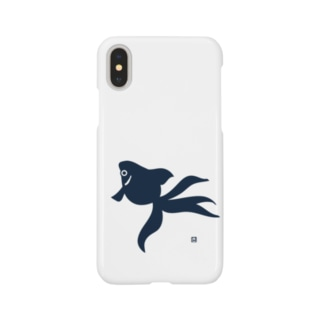 金魚(紺) Smartphone cases