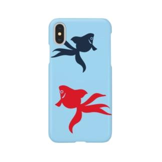 金魚(2匹) Smartphone cases