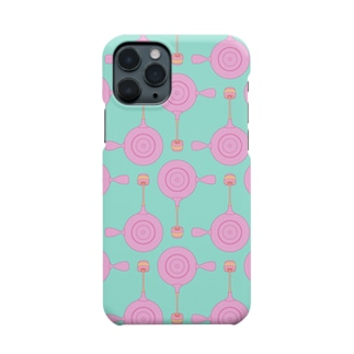 急須と湯呑み(ピンク) Smartphone cases
