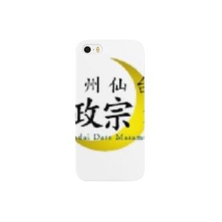 伊達政宗麦酒グッズ(白) Smartphone cases