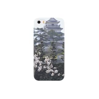 島原城と桜 Smartphone cases