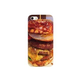 ハンバーガー3段 Smartphone cases