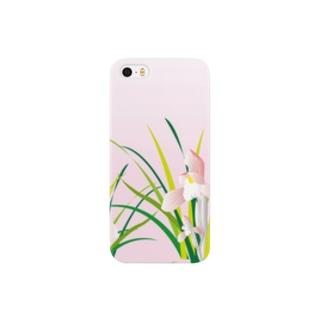 春蘭のお洒落なピンクの欄の花 Smartphone cases