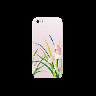 ジルトチッチのデザインボックスの春蘭のお洒落なピンクの欄の花 Smartphone cases
