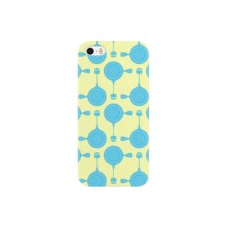 急須と湯呑み(ブルー) Smartphone cases