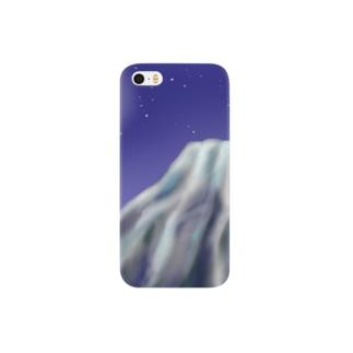 満月と富士山 Smartphone cases