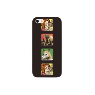 魔法淑女とお供たちiPhoneケース Smartphone cases