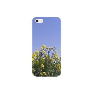 菜の花、良い天気 Smartphone cases