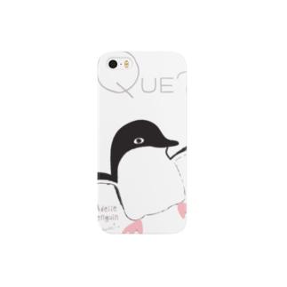 アデリーペンギンの目つき スマートフォンケース
