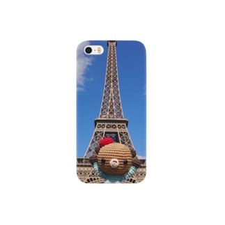 Bonjour!くまこまたエッフェル塔に行く Smartphone cases