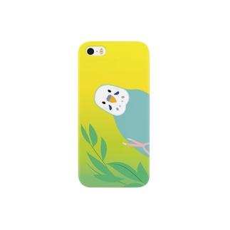 のぞき見セキセイインコ Smartphone cases