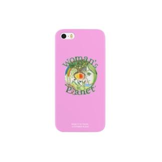 「愛に生きること。パワフルで活動的」なイメージ。Woman's Planet(Power pink) Smartphone cases