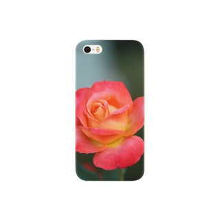 彩龍の薔薇の花 Smartphone cases