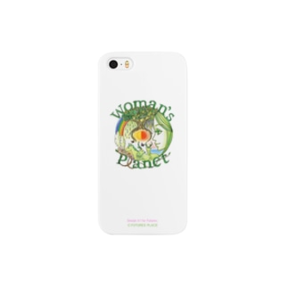 「ありのままの自然」のイメージ。Woman's Planet(nature white) Smartphone cases