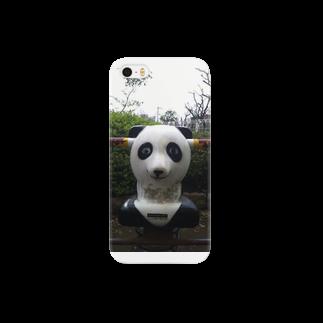 KIKIの昭和の公園-ぱんだ Smartphone cases