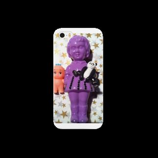 KIKIのおんなのこ☆ムラサキ Smartphone cases