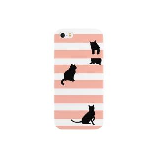 猫のシルエット Smartphone cases