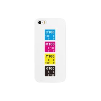 CMYKカラー縦 Smartphone cases