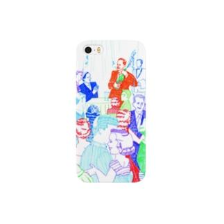 古屋智子(TomokoFuruya)のJazz Party(白) Smartphone cases