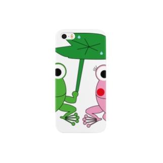 カエルの相合傘 Smartphone cases