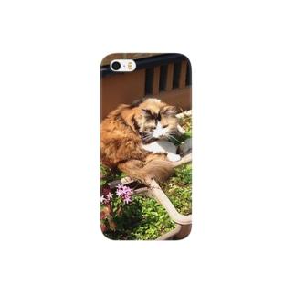まだら猫ちゃんiPhoneケース Smartphone cases