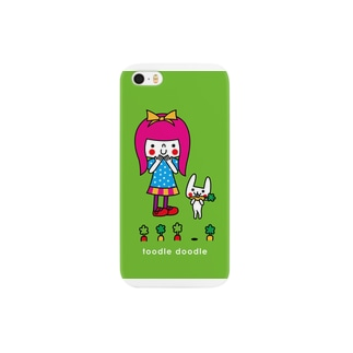 girl with rabbit Smartphone cases