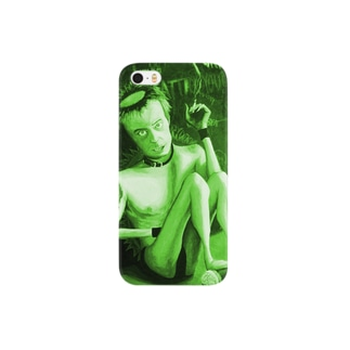 atelier  Enough のHand-80's PUNKS-GREEN Smartphone cases