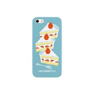 イチゴショートケーキ スマートフォンケース