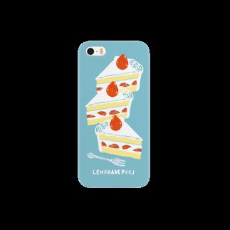 レモネードプールのイチゴショートケーキ Smartphone cases