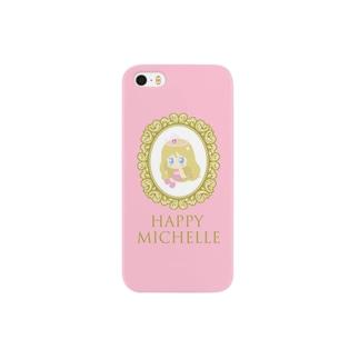 Happyミシェル-macaroon pink Smartphone cases