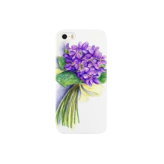 スミレの花束 スマートフォンケース