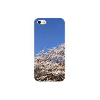 桜と青空 Smartphone cases