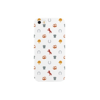 うま年モノグラム Smartphone cases