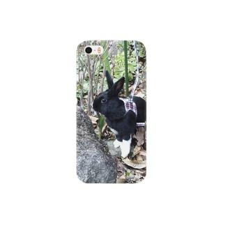 探検 黒うさぎ Smartphone cases