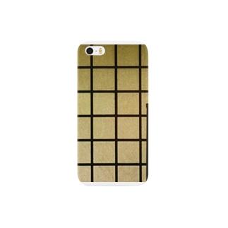 格子と棚の並列交差構造 Smartphone cases