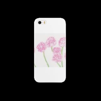 出虹の桃色たんぽぽ Smartphone cases