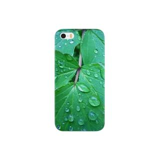 雨一葉 スマートフォンケース