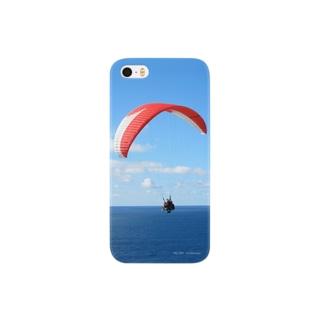 海と空とパラグライダー スマートフォンケース