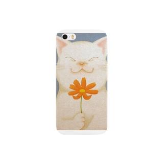 幸せの猫 Smartphone cases
