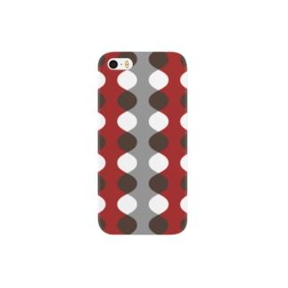 北欧モダン レッド Smartphone cases