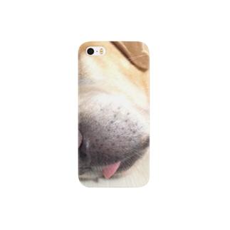 舌出し愛犬 スマートフォンケース